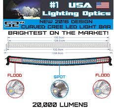 american made led light bar amazon com 52 inch curved 300w cree led light bar by usa light