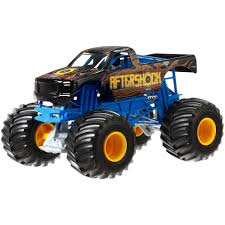 toy monster trucks racing wheels monster jam 1 24 aftershock die cast vehicle walmart com