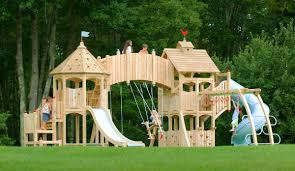 exterior captivating wooden playsets for appealing kids