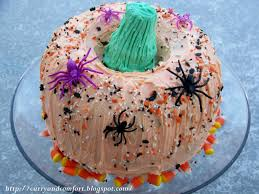 How To Decorate A Cake For Halloween Kitchen Simmer Happy Halloween Pumpkin Cake