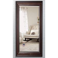 Beveled Floor Mirror by 29 5 In X 70 In American Walnut Beveled Oversized Full Body