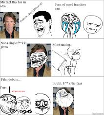 Meme Rage Comic - rage comic meme michael bay by shadowpwnlord9999 on deviantart