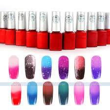 12ml temperature chameleon thermal change color soak off nail uv