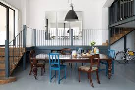 Chair Rails In Dining Room by Bathroom Chair Rail Dining Room Eclectic With Blue Black Pendant