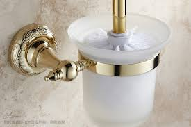 gold toilet brush set toilet cup fashion bathroom accessories