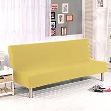 Modern Armless Sofa Armless Sofa Futon Cover Plain Sofa Slipcover Stretch
