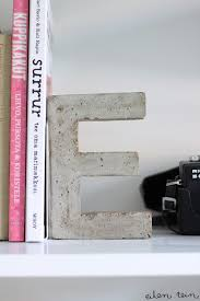 monogram bookends top 10 diy projects with concrete concrete craft and clay