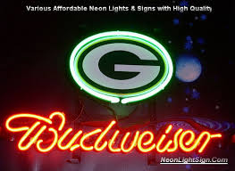 Neon Bar Lights Nfl Green Bay Packers Budweiser Neon Light Sign Nfl