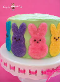 peeps decorations bird on a cake easter cake with white chocolate peeps