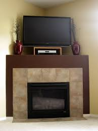 Small Corner Bedroom Fireplaces Corner Fireplace Mantels With Tv Above Home Design Ideas
