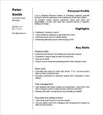 Relevant Experience Resume Examples by Carpenter Resume Template U2013 9 Free Samples Examples Format