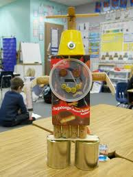 mrs t u0027s first grade class recycled robots
