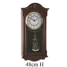 Wall Clocks Deluxe Wooden Pendulum Wall Clock Westminster Chime Amazon Co