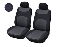 amazon black friday carseat amazon com 116001 black fabric 2 front car seat covers compatible