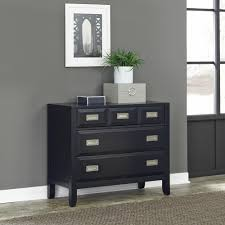 Kullen Dresser 3 Drawer by South Shore Flexible 3 Drawer Black Oak Chest 3347033 The Home Depot