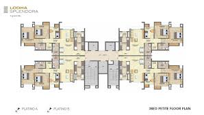 lodha splendora master plans floor u0026 unit plans for 1 2 3 bhk
