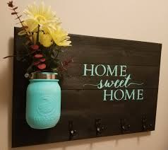 rustic home decor key holder home decor home sweet home