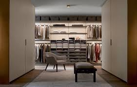 contemporary walk in wardrobe lacquered aluminum melamine