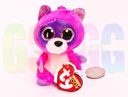 beanie boo clip roxie pink raccoon