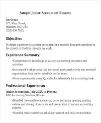 Resume Junior Accountant 21 Accountant Resume Templates Download Free U0026 Premium Templates