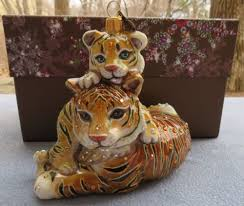 strongwater and baby tiger ornament swarovski elements