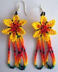 Native American Beaded Earrings Huichol 589 Best Huichol Earing Images On Pinterest Bead Earrings