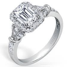 emerald cut engagement rings kirk kara lori emerald cut halo engagement ring
