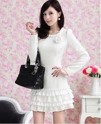 2013 korean fashion women casual winter dress high grade custom