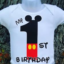 mickey mouse 1st birthday shirt my birthday mickey mouse t shirt