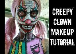 killer clown makeup halloween creepy clown makeup tutorial youtube
