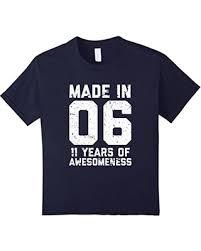 great deal on 11th birthday shirt gift age 11 year boy