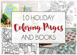 10 holiday coloring pages books dawn nicole designs