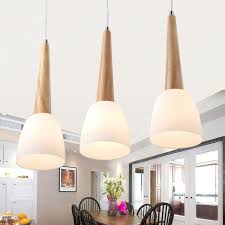 Wood Pendant Light Fixture Light Glass Shade Wooden Pendant Lights For Bedroom