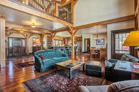 Timber Frame Home Interiors Distinctive Timber Frame Home A Luxury Home For Sale In Midway