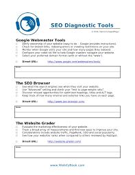 c48 seo diagnostic tools worksheet