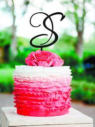 gold letter cake topper s letter cake topper gold monogram wedding cake topper initials
