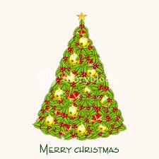 Merry Christmas Celebration With Decorative X Mas Tree
