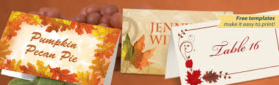 thanksgiving place cards placecard paperdirect
