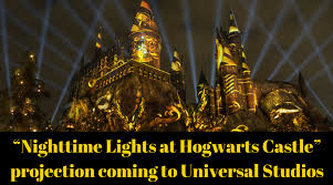 nighttime lights at hogwarts nighttime lights at hogwarts castle projection coming to harry