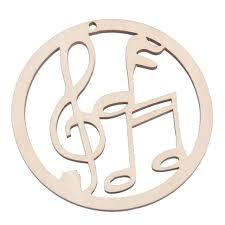 Musical Note Ornaments 10x Ornaments Wood Hanging Hollow Decorations Wood