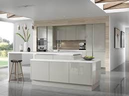 cuisine bois gris clair design interieur 1couleur cuisine armoires façade bois clair îlot