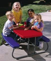 lifetime childrens folding table lifetime kids picnic table 28210 red and blue