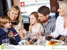 family lunch with their royalty free stock image image