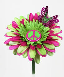 Vw Beetle Flower Vase Vw Beetle Flower Pink And Green Peace Daisy Vw Beetles U0026 Buses