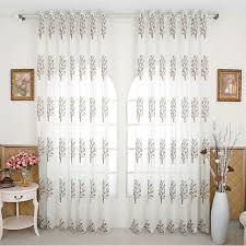 Buy Rustic Home Decor Aliexpress Com Buy Sheer Curtains Leaf Pattern Rustic Home Decor