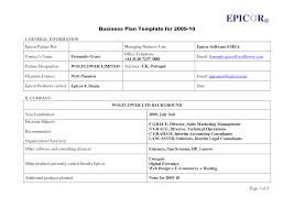 free basic business plan template sample of a small pdf 9dxpbdo7 h