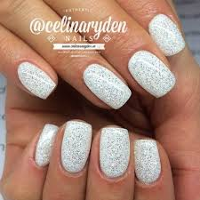 best 25 white glitter nails ideas that you will like on pinterest