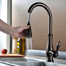 automatic kitchen faucets enthralling bronze kitchen faucet of antique pullout spray sidespray