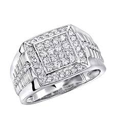 square shaped rings images Mens pinky rings diamond band 10k rose white or yellow gold jpg