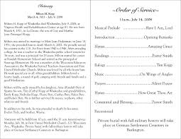 Funeral Assistance Programs Free Printable Funeral Programs Please Click On A Funeral